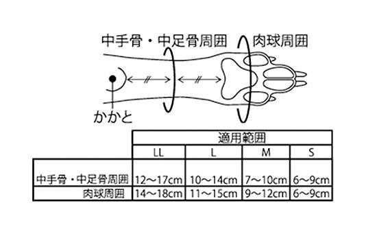 アニサポ ナックルンの測定図